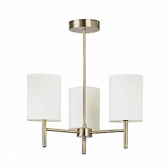3 Light Semi Flush Multi Arm Ceiling Light Antique Brass