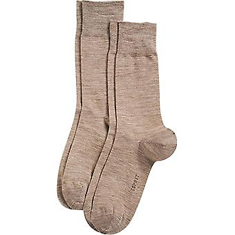 Esprit laine élégante base 2 Pack chaussettes - brun muscade