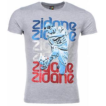 Camiseta-Zidane Print-Gris