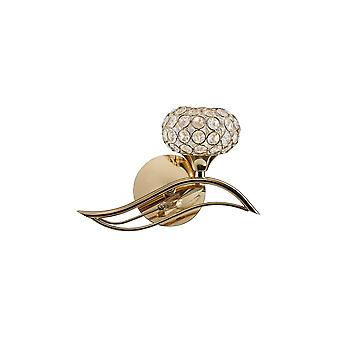 Diyas Leimo Wall Lamp Switched 1 Light Right French Gold/Crystal