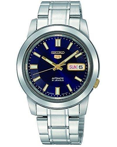 Seiko 5 Automatic Silver Stainless Steel Men's Watch SNKK11K1 38mm