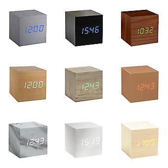 Gingko Cube LED Clique Despertador do Relógio com ativação de som (hora, data e temperatura) Várias cores