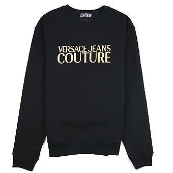 Versace jeans Couture logo Crew hals tröja svart