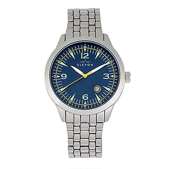 Elevon Atlantic Bracelet Watch w/Date - Silver/Blue