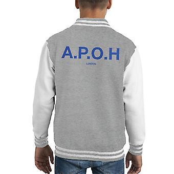 A. P. O. H klassisk cobalt logo kid ' s varsity jakke