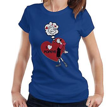 Popeye kærlighed hjerte Oliver OYL kvinder ' s T-shirt