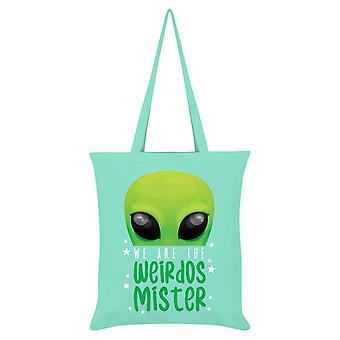 Grindstore We Are The Weirdos Mister Alien Tote Bag