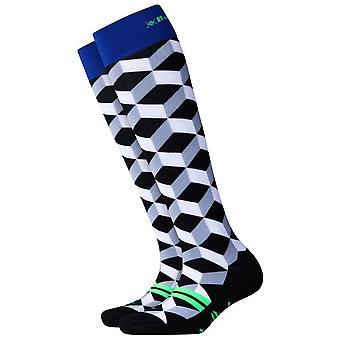 Burlington Schnee Spaß Mädchen Knie hohe Socken - schwarz/weiß/blau