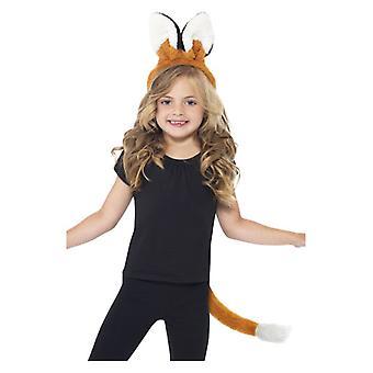 Childrens Boys Girls Fox Kit  Fancy Dress Accessory