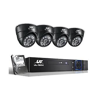 4 Camera Sets Cctv Security System 2Tb 4Ch Dvr 1080P