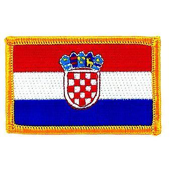 Patch Ecusson Brode vlag Kroatië Kroatië Thermocollant Insignbly Blason Patche