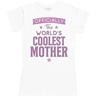 Offically The World's Coolest Mum - Womens T- Shirt