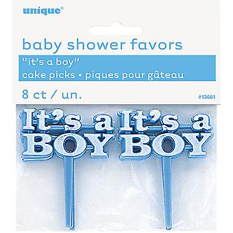 Unique Party Its A Boy/Girl Baby Shower Cake Picks (Pack Of 8)