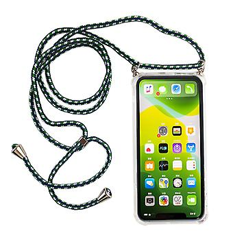 Catena di telefoni a telefono per Apple iPhone 11 - Smartphone Collana custodia con banda - Cord con custodia per appendere in verde