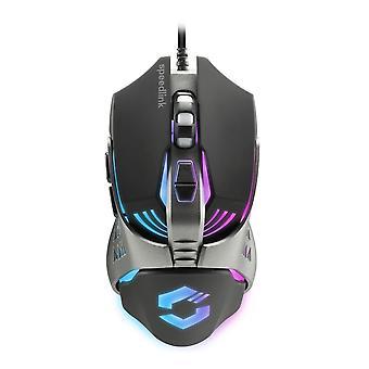 Speedlink Tyalo Multi-colour Illuminated 3200dpi Optical Gaming Mouse Black/Grey