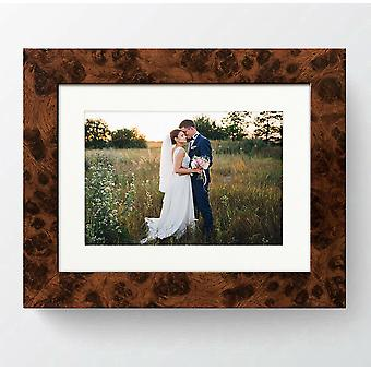 Modern Walnut Photo Frame Contemporary Picture Poster Wide 721 Wall Mounted UK Style