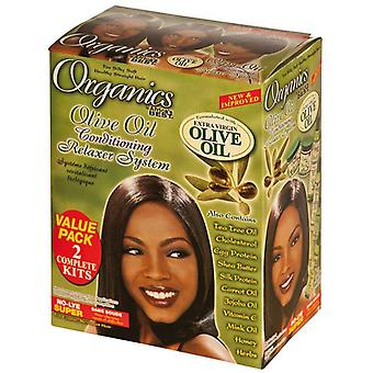Afrikka ' s paras orgaaninen oliivi öljy relaxer Value Kit Super