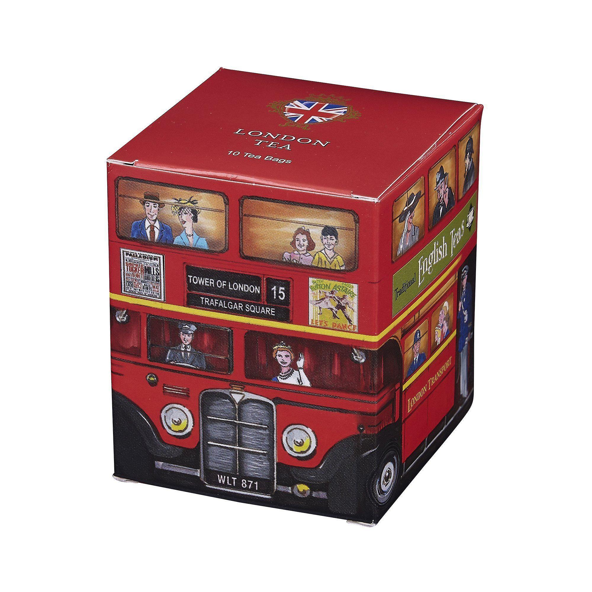 Red london bus london tea 10 teabag carton