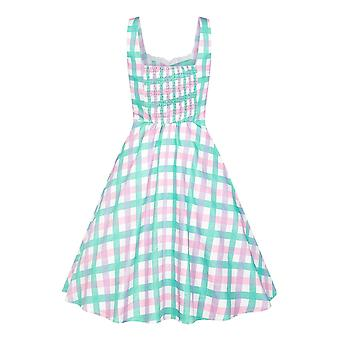 Collectif Vintage Women's Candy Gingham Swing Dress