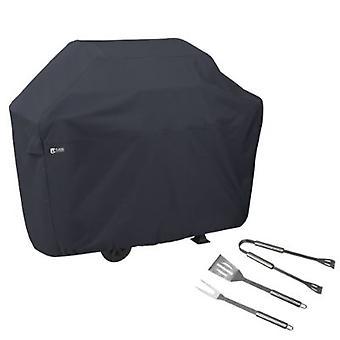 Bbq Grill Cover, X-Large, Con Grill Tool Set - Grilling Spatula, Pinze e Forchetta