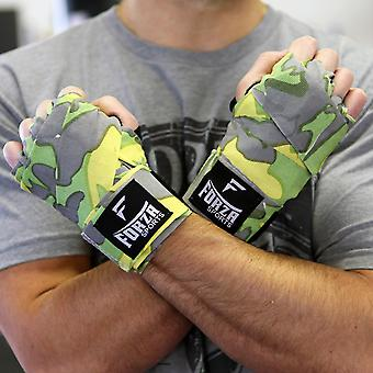 """Forza Sports 180"""" Mexican Style Boxing & MMA Handwraps - Factory Camo Green/Blue"""