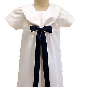 Dopklänning Grace Of Sweden - Sjömansklänning Med Mörk Blå Rosett