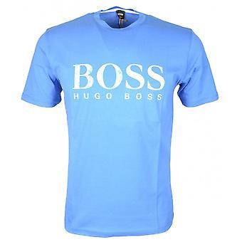 Hugo Boss Teecher 4 bawełny drukowane Logo niebieski T-shirt