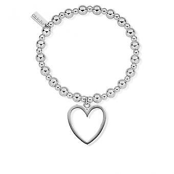 Chlobo SBMSB033 kvinnor ' s mini liten boll öppen hjärta armband