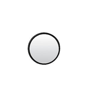 ضوء ومرآة حية 60cm مؤطرة أسود مُلمع