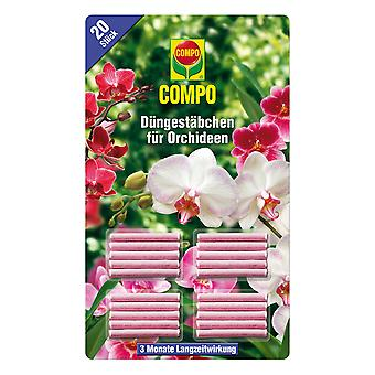 COMPO fertilizer sticks for orchids, 20 pieces