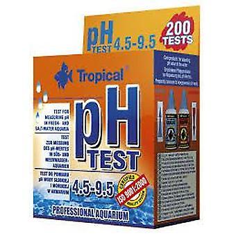 Tropiske Test Ph 4.5-9.5 (fisk, vedlikehold, pH & andre stoff Test Strips)