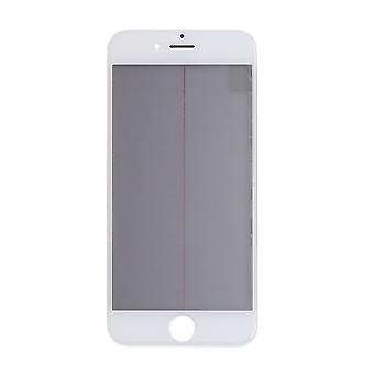 4 In 1 White Top Glass & Frame For iPhone 6S   iParts4u