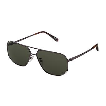 Dunhill SDH191 568Z Total Shiny Gunmetal/Polarised Grey-Green Sunglasses