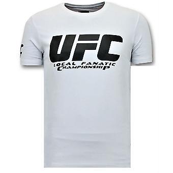 تي شيرت مع طباعة - بطولة UFC الأساسية - أبيض
