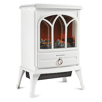Portable Freestanding  Electric Stove Fireplace Heater 1800W Log Flame Effect