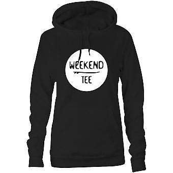 Camisetas femininas encapuzadas Hoodie- Fim de semana Tee