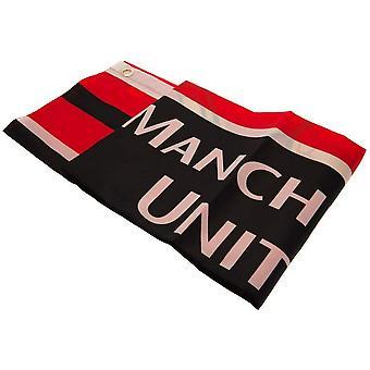 Manchester United FC Wordmark Crest Flag
