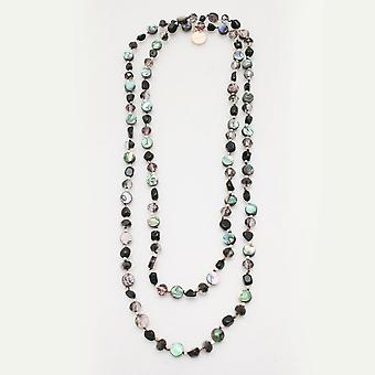 Bcharmd Semi Precious Long Green Necklace