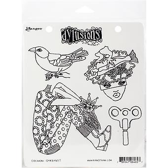 "Dyan Reaveley's Dylusions Cling Stamp Collections 8.5""X7"" - Clockwork"