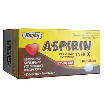 Rugby aspirin, 325 mg, tablets, 100 ea