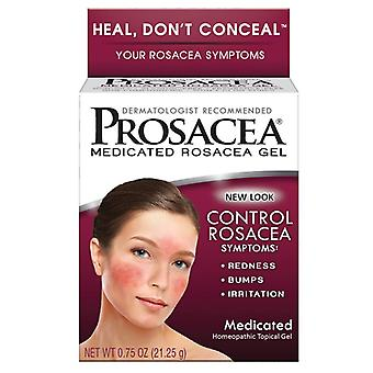 Prosacea medicated rosacea gel, homeopathic topical gel, 0.75 oz