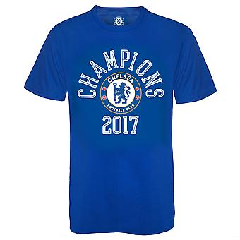 Chelsea FC Officiel Football Gift Mens Boys Kids Champions 2017 T-Shirt