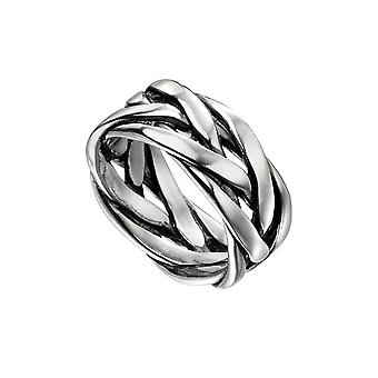 Iníciosterling Silver Mens Heavyweight Plated Band Ring R3722