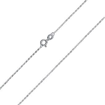 TOC Sterling Silver Fine Trace Hanging Necklace Chain 18 pouces CL4839