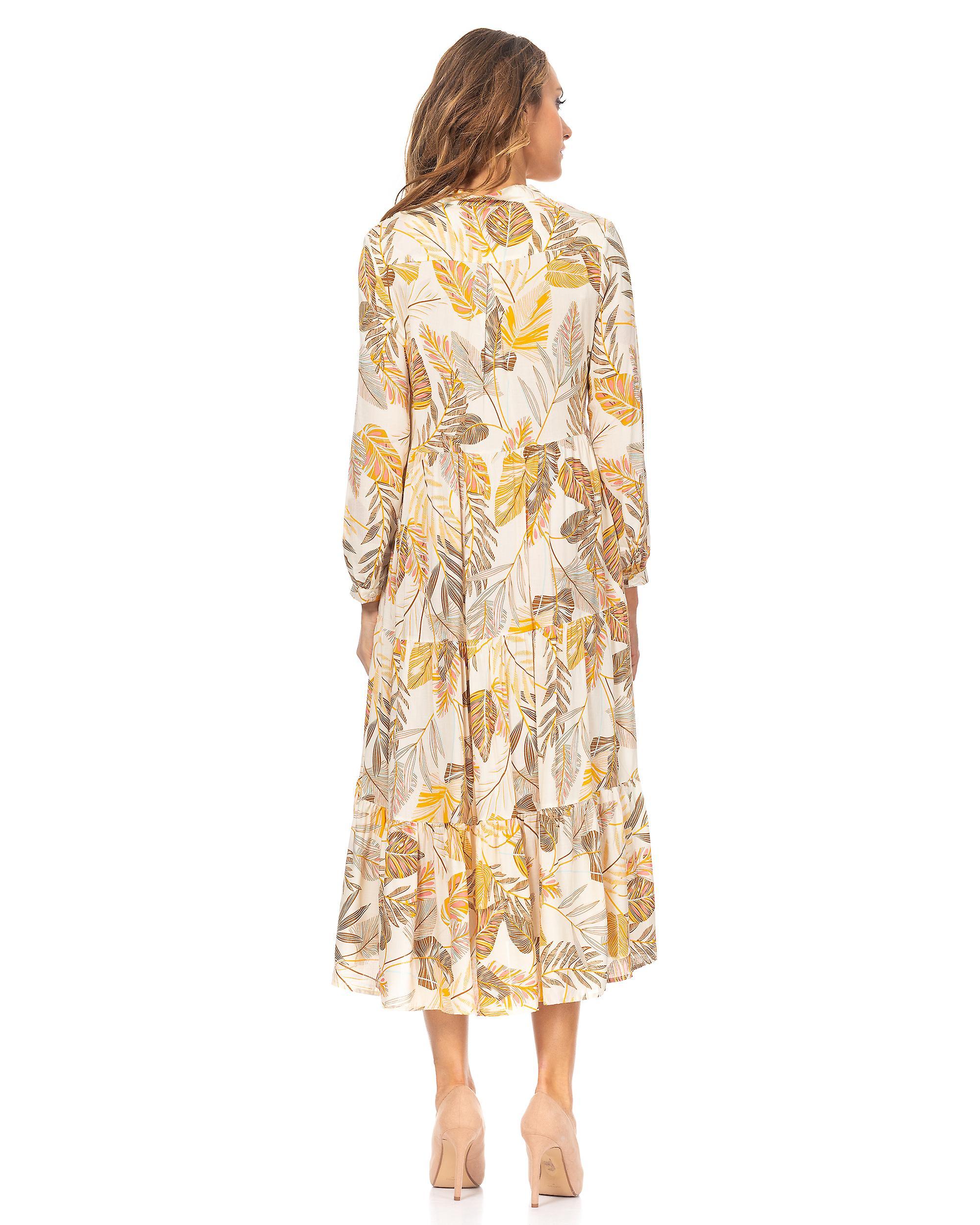 Robe large imprimée de fleur de Midi j2yCzY