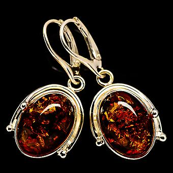Baltic Amber Earrings 1 1/2