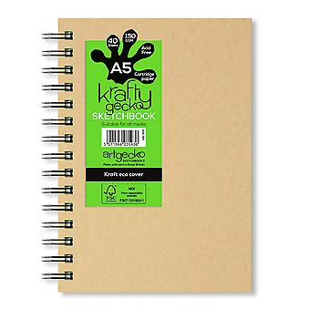 Artgecko Krafty Gecko All Media Sketchbook A5 (Portrait)