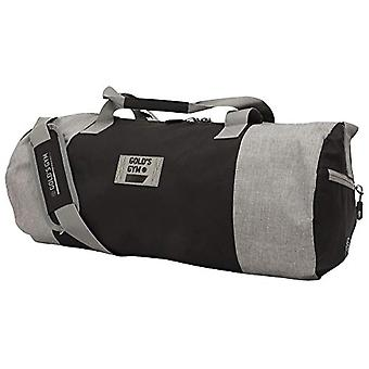 Gold's Gym - Contrast Unisex Barrel Bag - Black and Grey - One Size