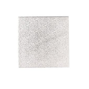 "Culpitt 10"" (254mm) Doppia spessa quadrata Giro Bordo Carte Torta Argento Fern (3mm spessore) - Avvolto individualmente - Singolo"