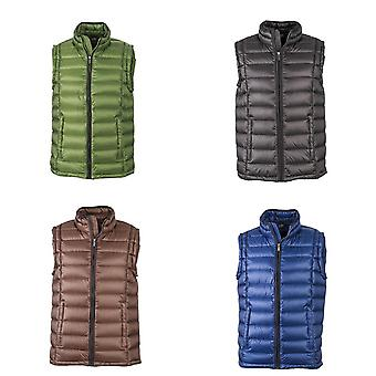 James and Nicholson Mens Quilted Down Vest